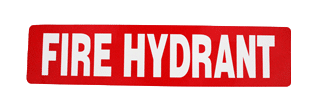 fire hydrant prod sign