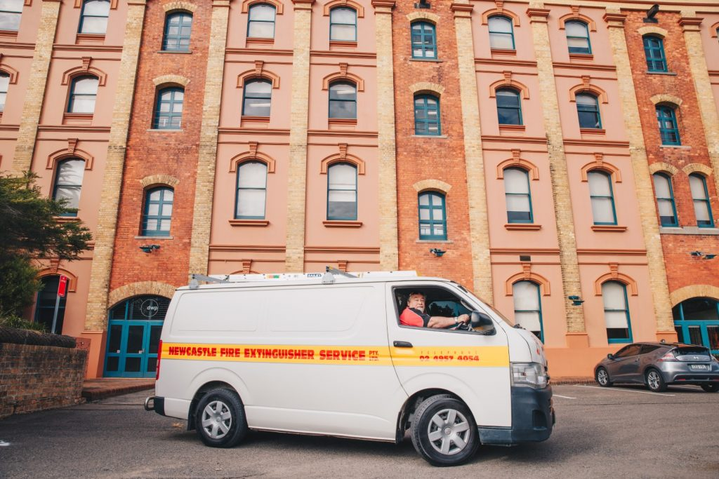 newcastle fire extinguisher service service van