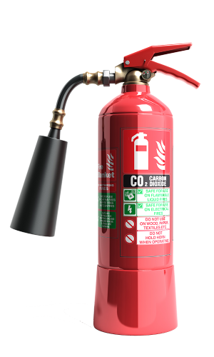 fire extinguisher with co2 carbon dioxide