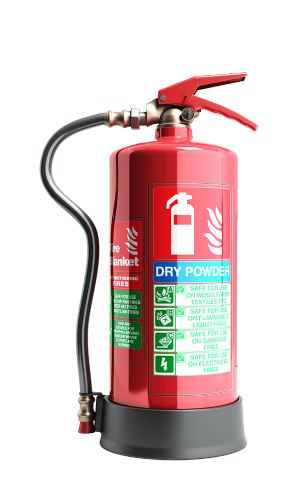 fire extinguisher with dry powder