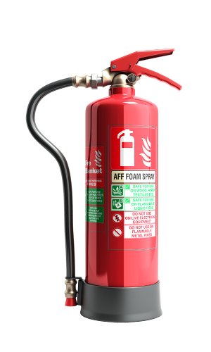fire extinguisher with foam spray