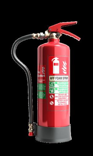 fire extinguisher with foam spray
